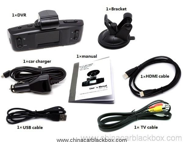 1.5 inch hd LCD Car DVR with GPS logger G-sensor 2