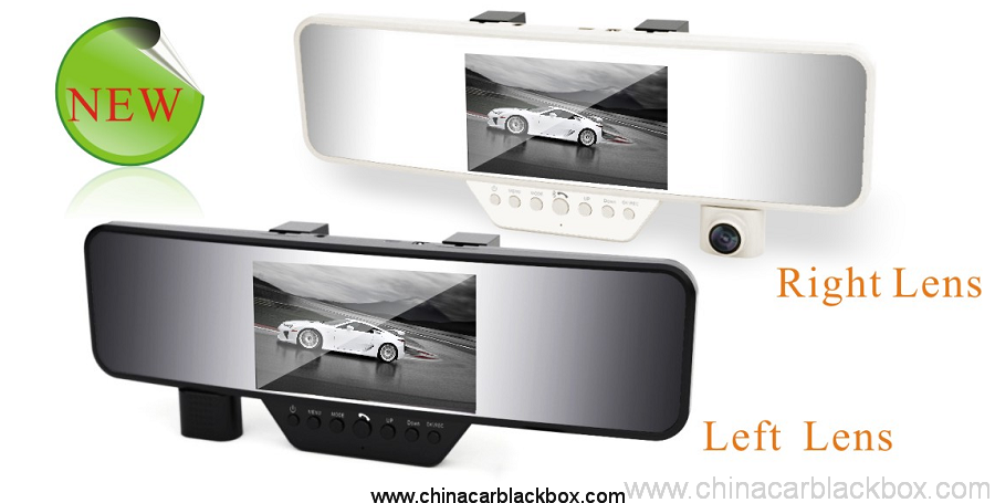 4.3 inch LCD Bluetooth Rearview Mirror HD Car DVR 5