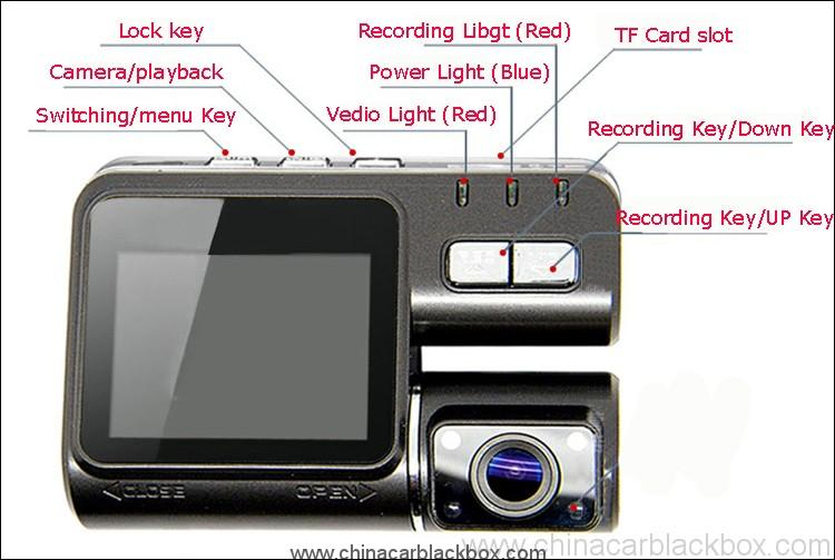Dual Lens Driver recorder HD Car Dvr Camera 8