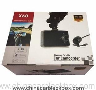 Metal Case HD 720P Dual Lens Car DVR 3