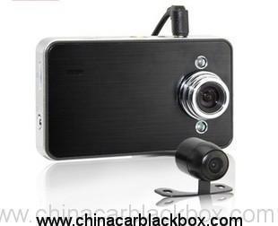 Metal Case HD 720P Dual Lens Car DVR