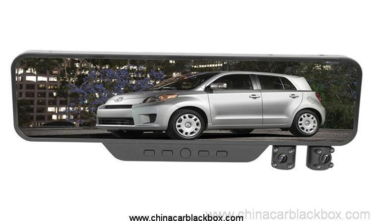 Rearview Mirror Dual Camera 3.5 inch TFT Car DVR