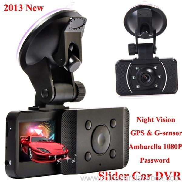 Slide Car DVR 1080P 30FPS HD Camera GPS G-Sensor Password