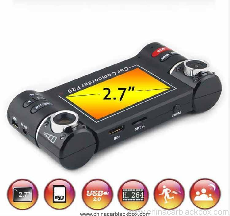 2.7 Inch Dual Camera Car Video Record 4