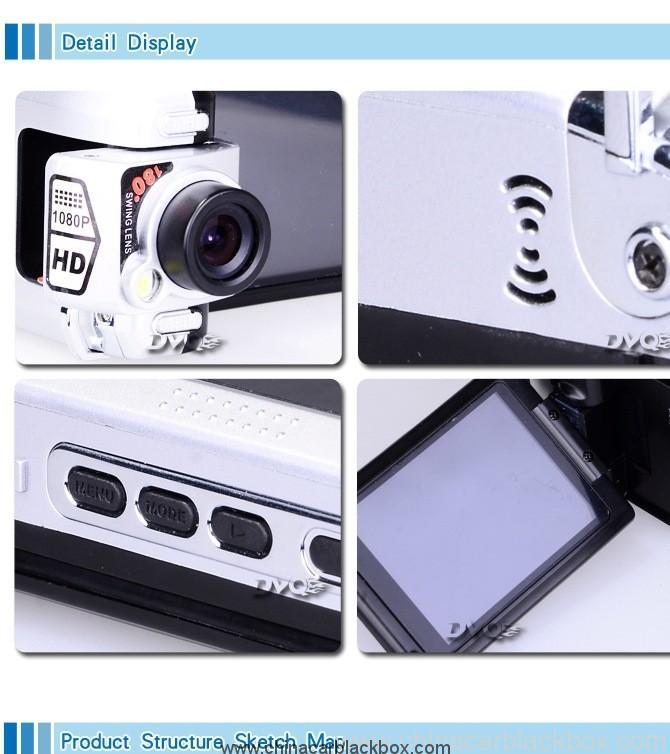 5 Mage pixels CMOS Ambarella solution hd 1080p car dvr 6