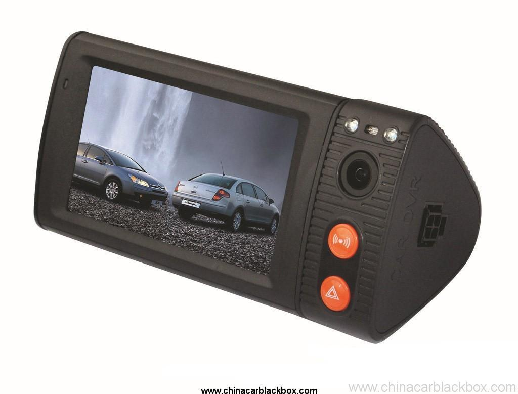 Dual Camera Car Blackbox DVR With 3 Inch Touchscreen GPS Logger And 3D G-Sensor