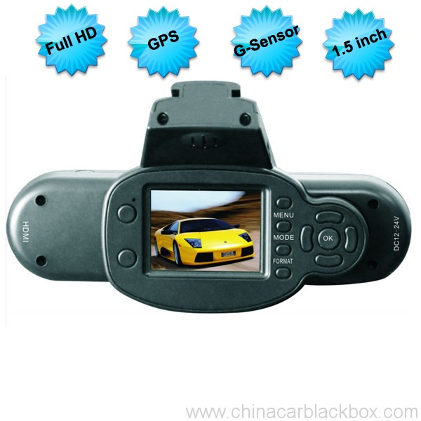 Full HD 1080P Car DVR Recorder With GPS and G-Sensor
