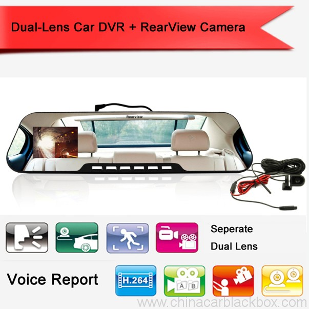 Parking Reverse Camera Night Vision Dual-lens Car DVR