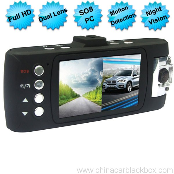 SOS 1080P Full HD Dual Cameras/Lens Figure Tachograph Car DVR