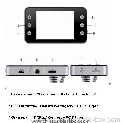 1080p g-sensor car black box 5