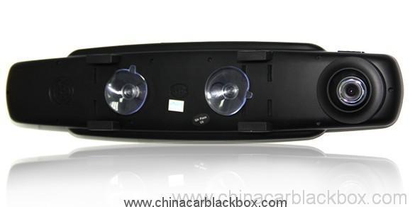 Three cameras Omnibearing shooting rearview mirror car black box 3