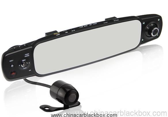 Three cameras Omnibearing shooting rearview mirror car black box 4