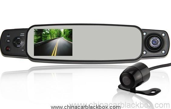 Three cameras Omnibearing shooting rearview mirror car black box 5
