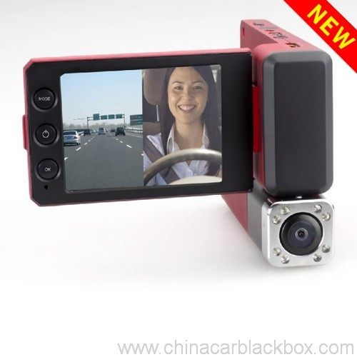 1080p dual camera night vision traffic recorder 4