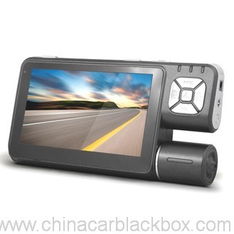 4.3 inch LCD GPS navigation car dvr