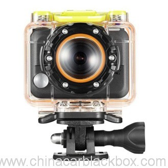 waterproof 1080p sports camera with remote control