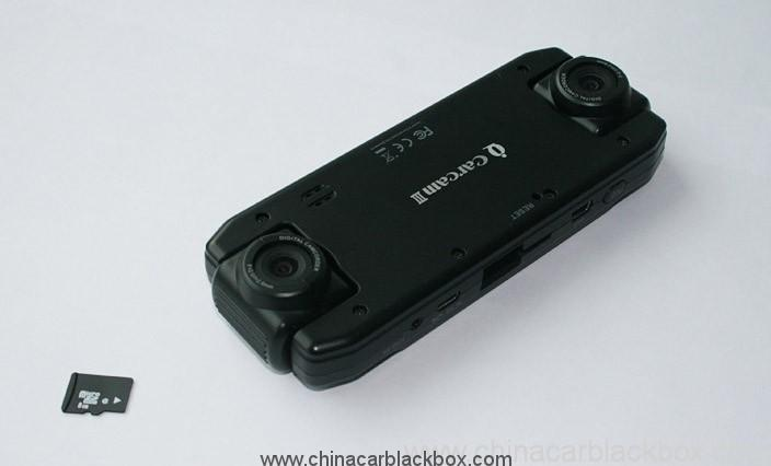 Dual 180 degree rotating lens Car DVR with GPS 3