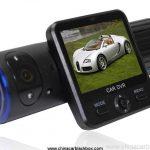 Dual Cameras Car DVR with Rotatable Lens GPS Module G-Sensor