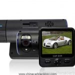 Dual Cameras Car DVR with Rotatable Lens GPS Module G-Sensor 2