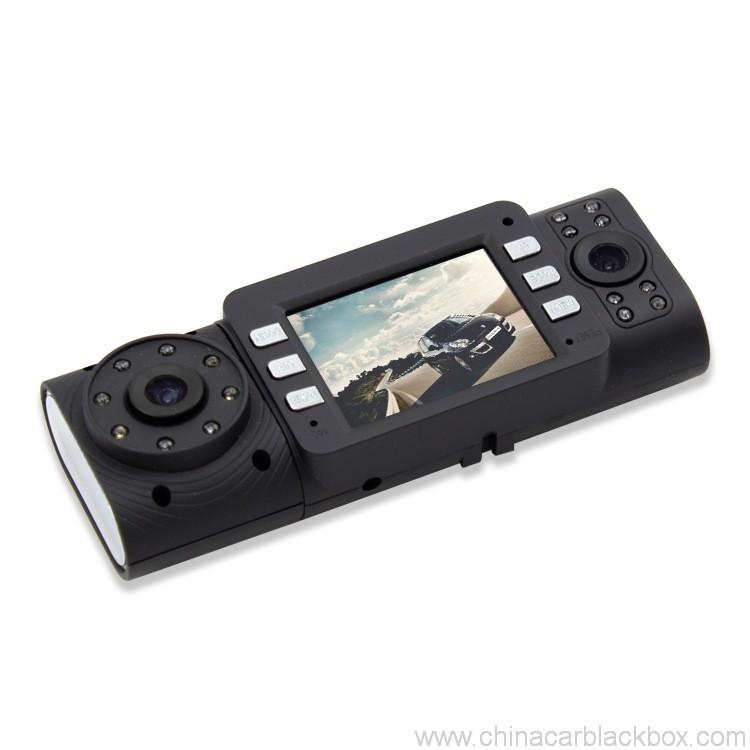 Dual Camera/Seamless video/G-sensor car DVR 2