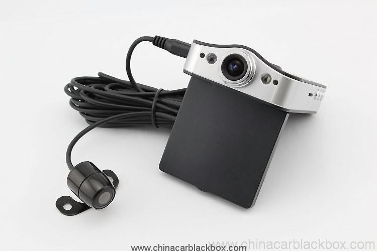 HD 720P Dual Camera Car DVR with GPS 3