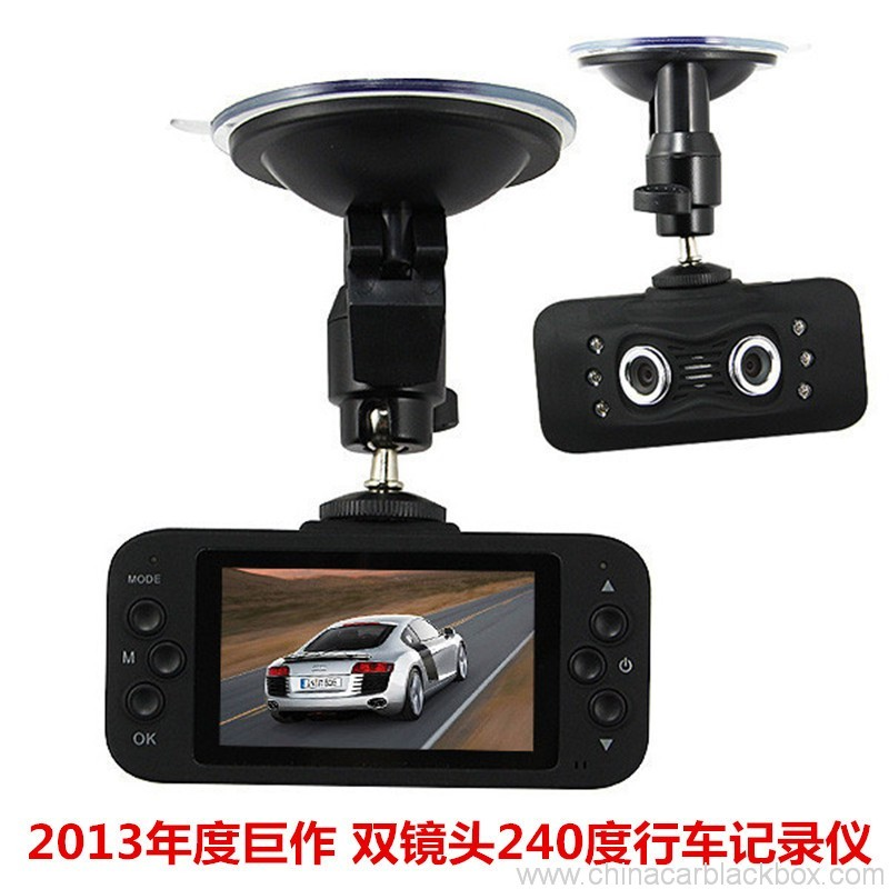 2.7inch car dvr with dual camera 230 degree wide view angle 3
