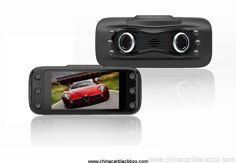 2.7inch car dvr with dual camera 230 degree wide view angle