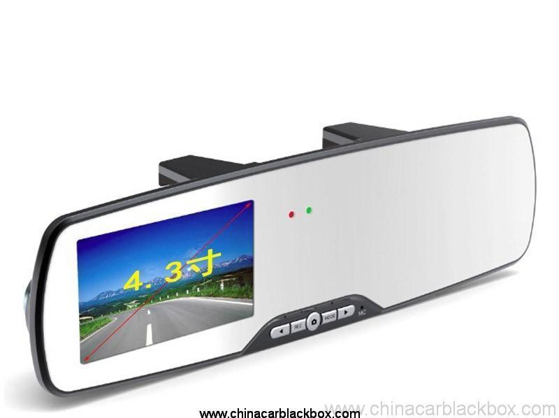 6 LED infrareds rearview mirror car dvr
