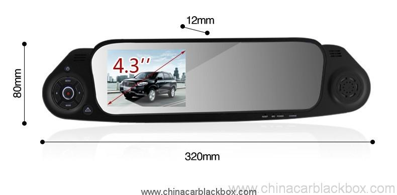 Car Rearview Mirror Camera Recorder DVR Rear view camera with G-sensor 5
