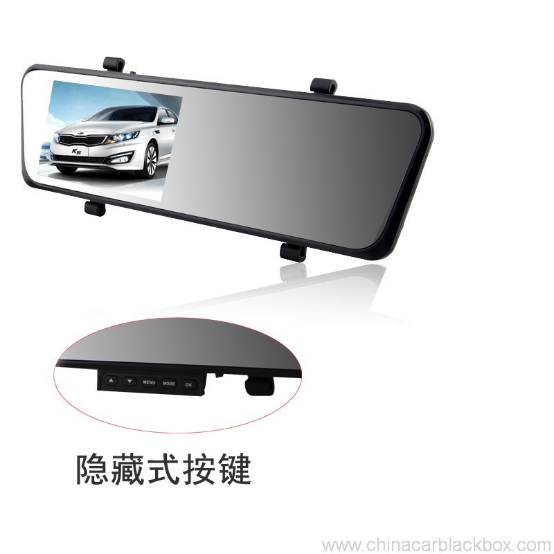 Dual lens FHD 1080P rearview mirror 4.3 inch car dvr 2