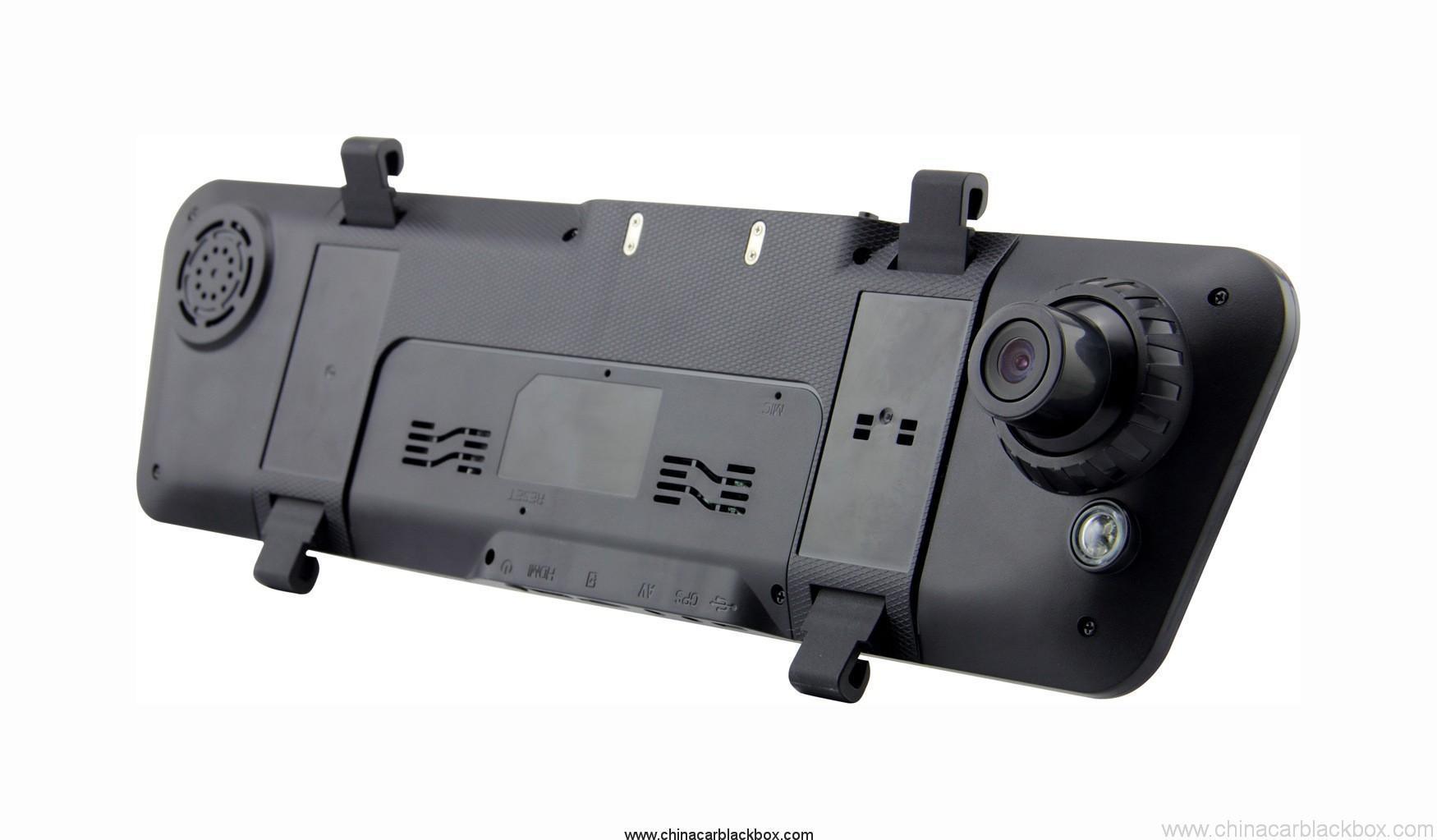 Dual lens FHD 1080P rearview mirror 4.3 inch car dvr 3