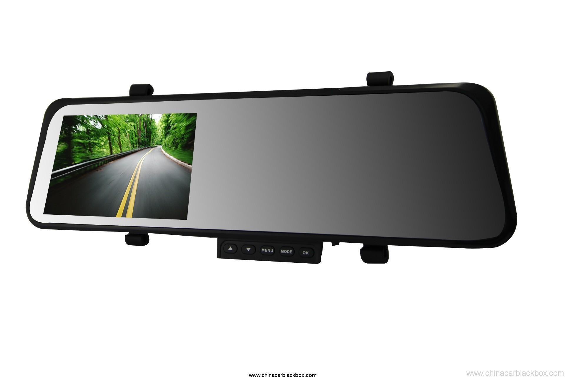 Dual lens FHD 1080P rearview mirror 4.3 inch car dvr