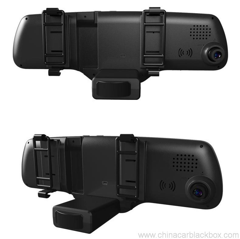 Dual lens full hd rearview mirror car dvr 3