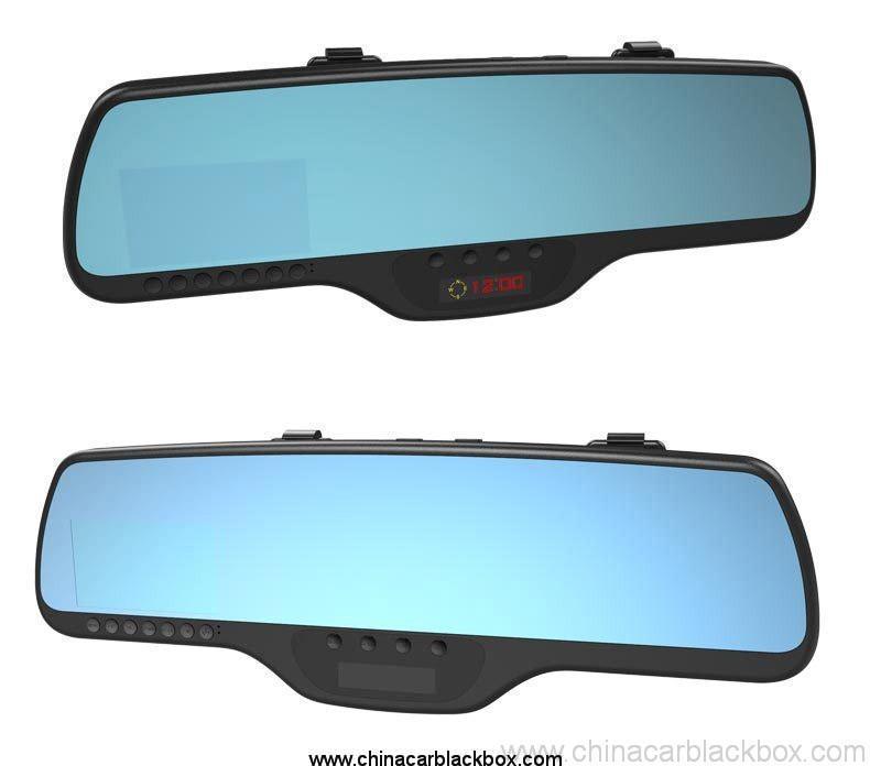 Dual lens full hd rearview mirror car dvr