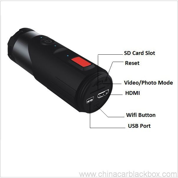 Sports action camera with G-sensor 3