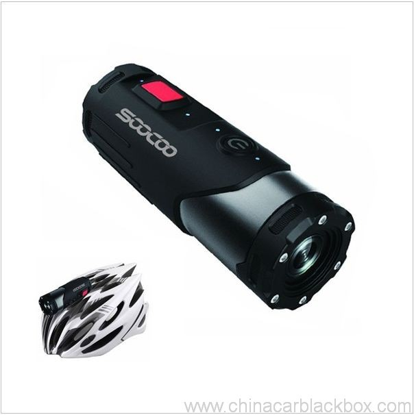 Sports action camera with G-sensor
