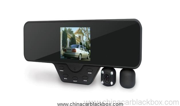 3.5 inch Screen Rearview Mirror Dual Lens Car DVR  with View Angle 120 wide angle 2
