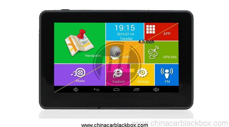 4.5 inch android tablet gps navigation 854×480 IPS screen bluetooth wifi fm gps car dvr 2