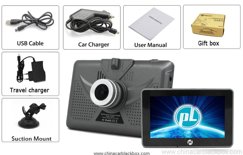 4.5 inch android tablet gps navigation 854×480 IPS screen bluetooth wifi fm gps car dvr 5
