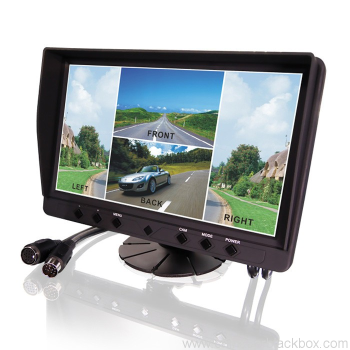 9 inch 4CH quad cameras system for truck bus van tractor