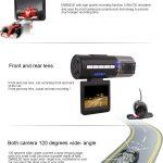 Dual Car Dash Camera HD Car DVR Black Box 8