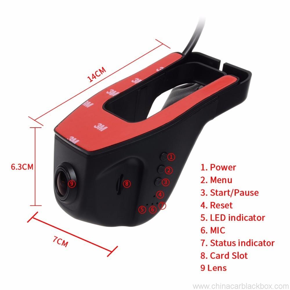 FHD 1080P Car DVR Built-in Wifi camera recorder Support APP Control 7