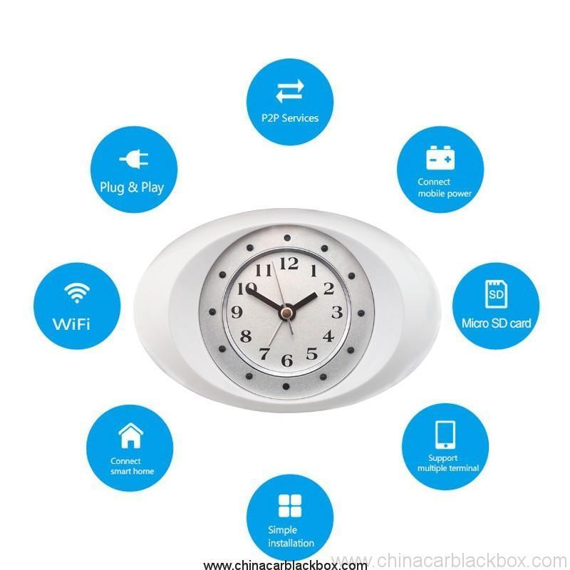 IP Clock Camera with 10 units LED Night Vision 4