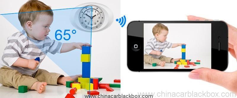 IP Clock Camera with 10 units LED Night Vision 5
