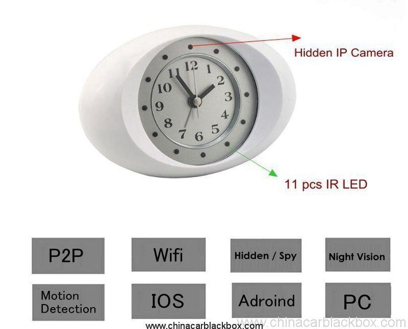 IP Clock Camera with 10 units LED Night Vision 6