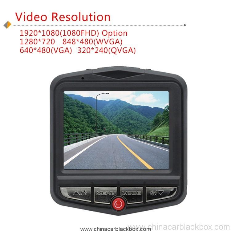 Night vison support car dvr camera 2.4 inch 2