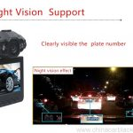Night vison support car dvr camera 2.4 inch 3