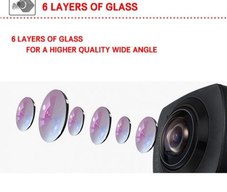 Waterproof full hd 1080p sport camera 210 degree wide lens 2