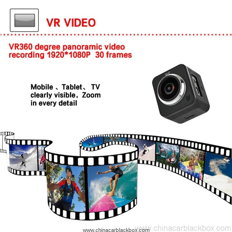 Waterproof full hd 1080p sport camera 210 degree wide lens 4