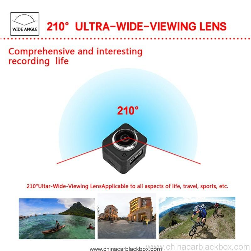 Waterproof full hd 1080p sport camera 210 degree wide lens 5